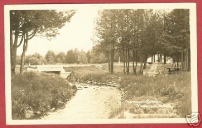 Thompson MI Creek Upper Peninsula RPPC Postcard BJs