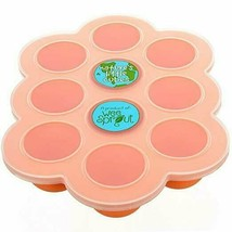 Silicone Baby Food Freezer Tray, Clip-On Lid by WeeSprout BPA-Free, Oran... - $23.50