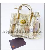 NEW Mulberry Shrunken BAYSWATER Mini Bag Charm Coin Purse GOLD DIAMOND S... - $450.00