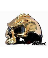 Masei 489 Gold Chrome Skull Motorcycle Chopper Helmet - $699.00