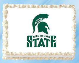 """Michigan State Edible Image Topper Cupcake Cake Frosting 1/4 Sheet 8.5 x 11"""" - $11.75"""