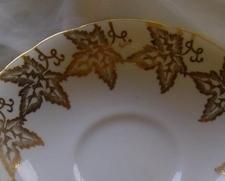 Gold Ivy Leaf Saucer Windsor English Bone China