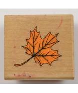 Wood Mounted Rubber Stamp By Hero Arts Autumn Leaf Scrapbok Envelope Art... - $6.99