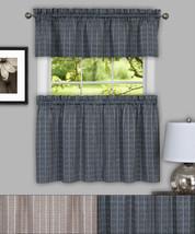 "Sydney Plaid Decorative Kitchen Window Curtain 36"" Tiers & Valance Set - $27.79"