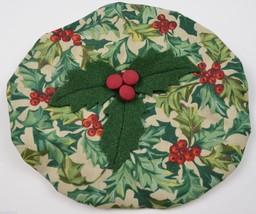 Longaberger Caroling Basket Fabric Lid Cover American Holly Home Decor F... - $10.99