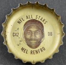 Vintage Coca Cola NFL All Stars Bottle Cap Dallas Cowboys Mel Renfro Coke Soda - $6.99