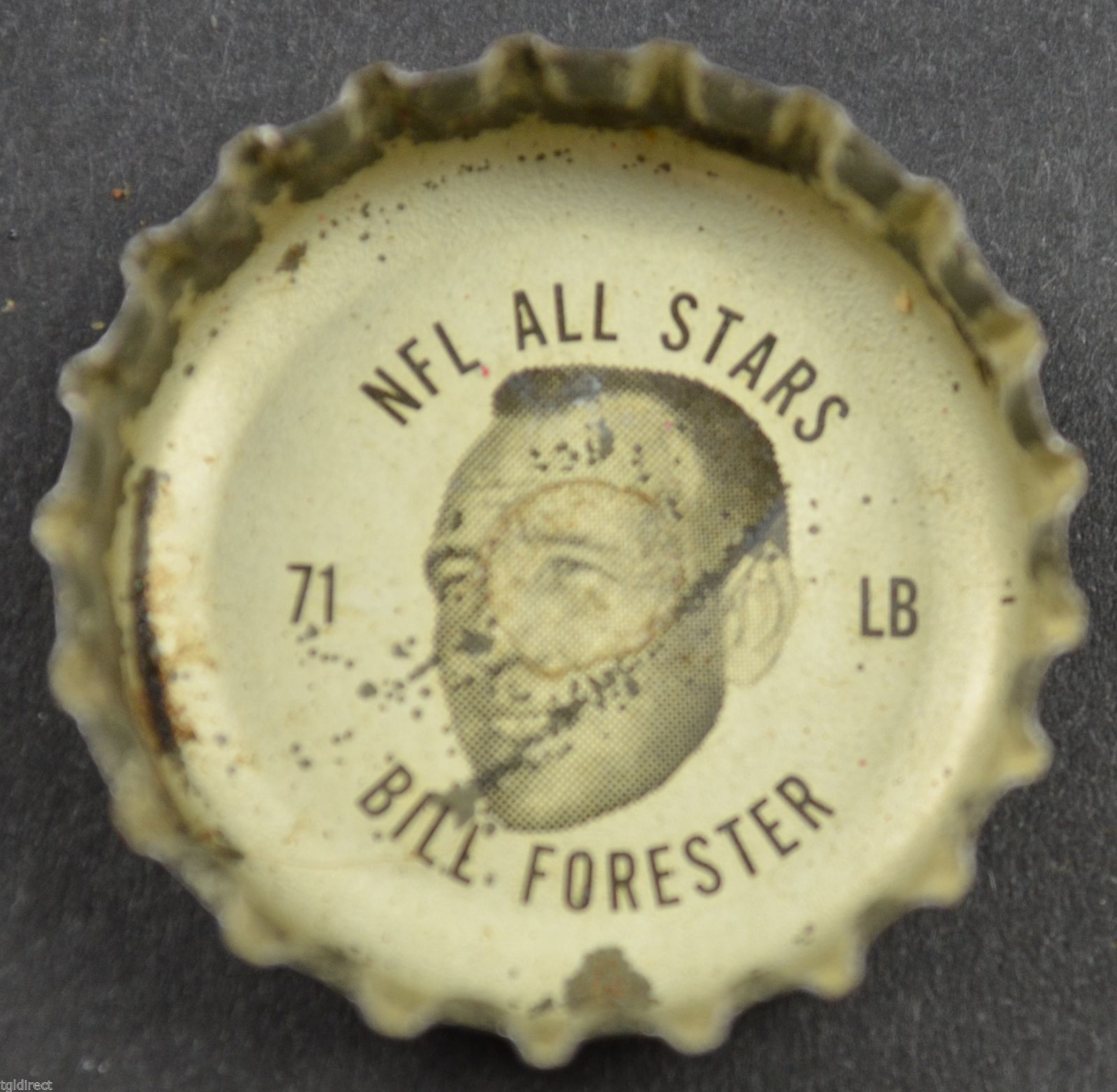 Primary image for Vintage Coca Cola NFL All Stars Bottle Cap Green Bay Packers Bill Forester Soda