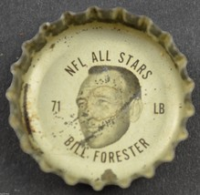 Vintage Coca Cola NFL All Stars Bottle Cap Green Bay Packers Bill Forester Soda - $6.99
