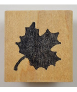 Wood Mounted Rubber Stamp By Azadi Earles Leaf Scrapbook Envelope Arts C... - $6.99