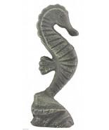 "Decorative Metal Seahorse Sculpture Verdigris 6.375"" Tall Figurine Home ... - $7.99"