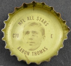 Vintage Coca Cola NFL All Stars Bottle Cap New York Giants Aaron Thomas Coke - $4.99
