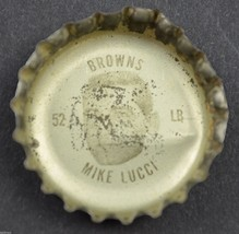 Vintage Coca Cola NFL Bottle Cap Cleveland Browns Mike Lucci Coke King Size - $4.49