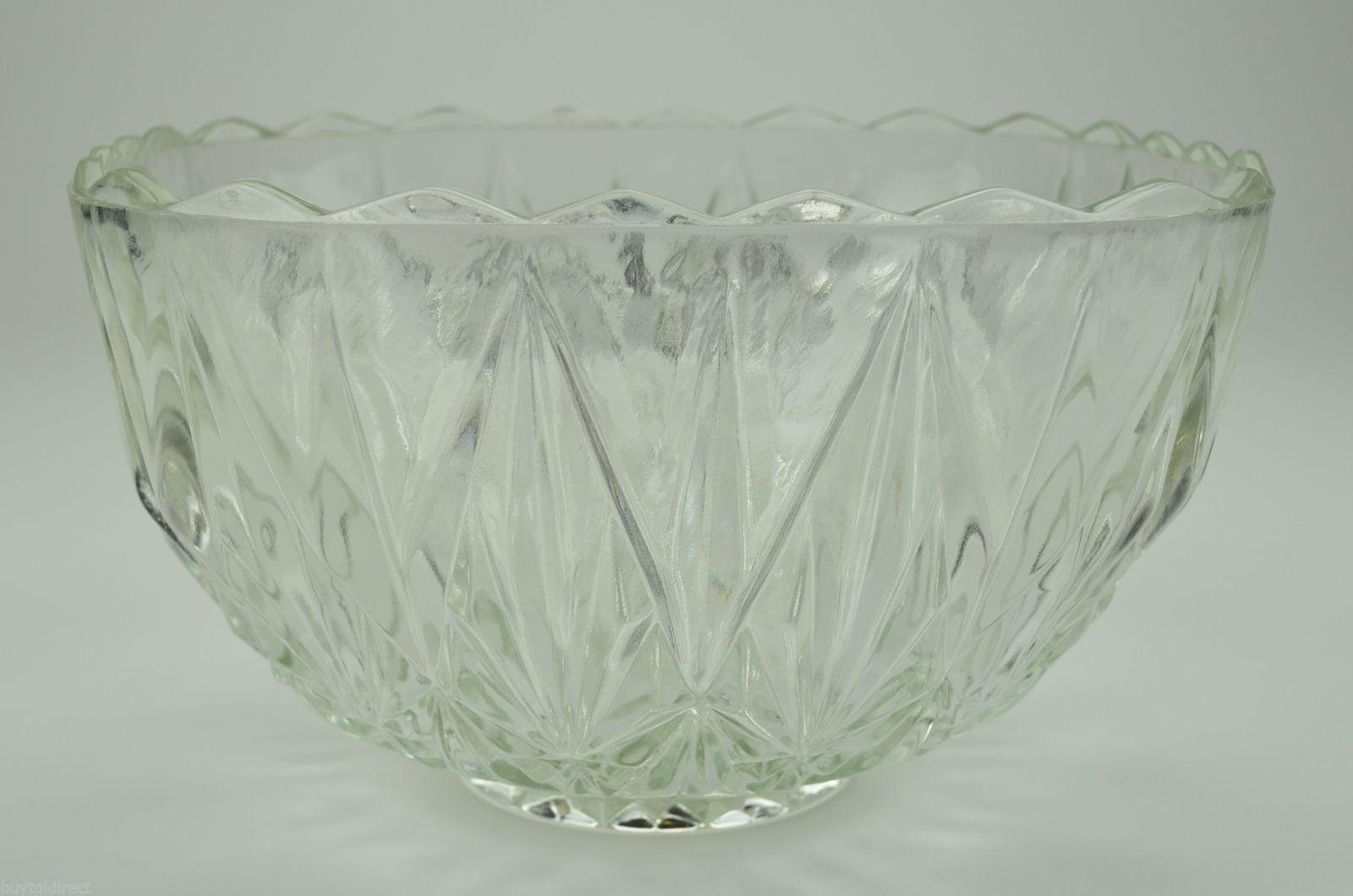 punch bowl mid Century bowl Vintage Hazel Atlas Salad Bowl