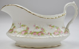 Vintage Homer Laughlin China Hudson Pink Floral Pattern Gravy Boat Table... - $34.99