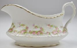Vintage Homer Laughlin China Hudson Pink Floral Pattern Gravy Boat Table... - $34.99
