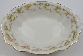 "Vintage Homer Laughlin Hudson Pink Floral Pattern Oval Vegetable Bowl 9""... - $24.99"