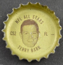 Vintage Coca Cola NFL All Stars Coke Bottle Cap Detroit Lions Terry Barr... - $5.99