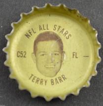 Vintage Coca Cola NFL All Stars Coke Bottle Cap Detroit Lions Terry Barr Soda - $5.99