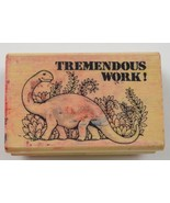 """Wood Mounted Rubber Stamp By Hero Arts """" Tremendous Work ! """" Colectible ... - $6.99"""