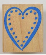 Wood Mounted Rubber Stamp By Hero Arts Dot Heart Srapbook Envelope Arts ... - $6.99