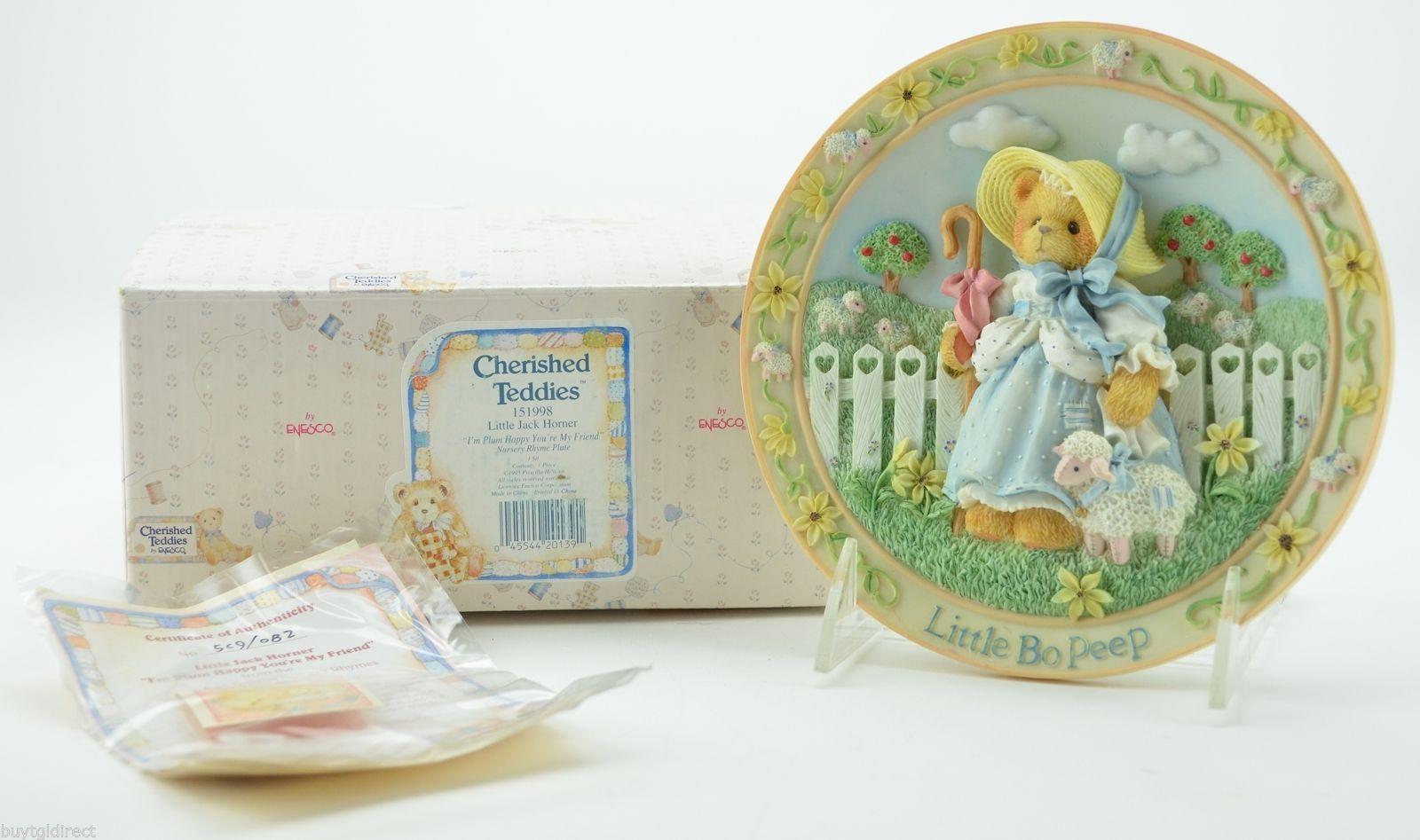 Enesco Cherished Teddies Little Bo Peep Looking For A Friend Like You Plate - $34.99