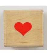 Wood Mounted Rubber Stamp By Hero Arts Solid Heart Sceapbook Evelope Art... - $6.99