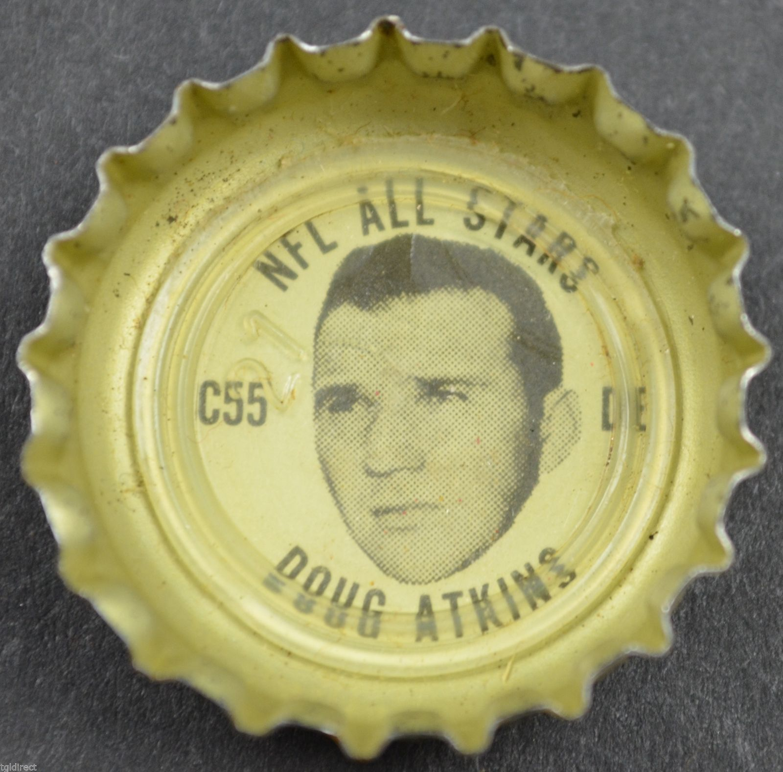 Primary image for Vintage Coca Cola NFL All Stars Bottle Cap Chicago Bears Doug Atkins Coke Soda