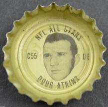 Vintage Coca Cola NFL All Stars Bottle Cap Chicago Bears Doug Atkins Coke Soda - $6.99