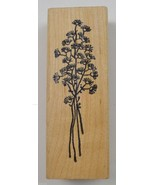 Wood Mounted Rubber Stamp By Azadi Earles Flower Collectible Envelope Ar... - $8.99