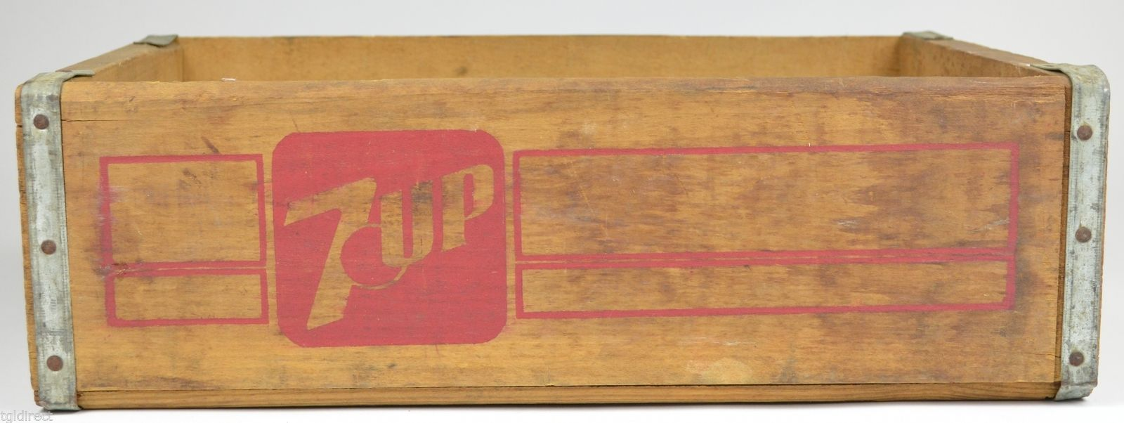 Primary image for Vintage Wood Seven Up Bottle Crate Indianapolis Ind. Decorative Collectible Soda