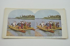 Stereoview By TW Ingersoll 9 Crossing Solo River On A Wherry Island Of J... - $24.99