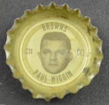Vintage Coca Cola NFL Bottle Cap Cleveland Browns Paul Wiggin Coke King Size - $4.99
