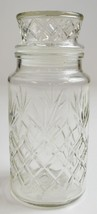 "Anchor Hocking Glass Planters Peanuts Lidded Jar 1983 8"" T Canister Mr. ... - $12.99"