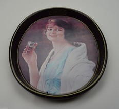 Coca Cola Metal Oval Advertising Tray Woman Holding Coke Vintage Collectible - $24.99