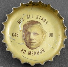 Vintage Coca Cola NFL All Stars Bottle Cap Los Angeles Rams Ed Meador Co... - $6.99