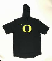 Nike Oregon Duck Hooded Player Training Tee Men's Large Black AJ6714 - $54.45