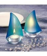 Stylish Sailboat Design Favor Wedding Reception Sail Candle Tealight Bea... - $4.98