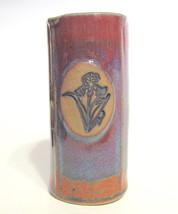 Studio Art Pottery Iris Vase SMP Molded Ceramic - $31.18