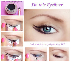 Quick Makeup Stencils - Cosmetic Tool for Applying Eyeliner and Eye Shad... - $15.00