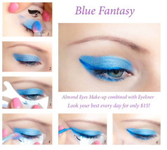 Quick Eye Makeup Stencils Eyeliner Eyeshadow Eyebrow Tool Free Shipping CA3 - $15.00
