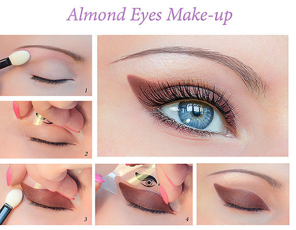 Quick Makeup Stencils - Cosmetic Tool for Applying Eyeliner and Eye Shadow AU3