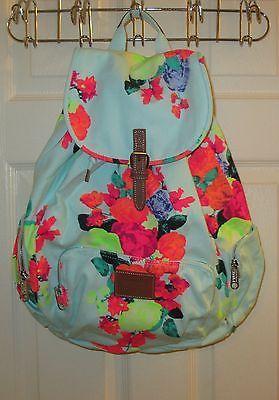 Victoria Secret~Ltd Edition~Floral Pink Rose Full Size Backpack~ WT