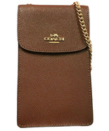 Coach Womens F37543 North South Phone Crossbody Leather Bag, Brown, O/S,... - $196.02