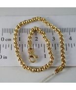 SOLID 18K YELLOW GOLD BRACELET WITH ROUND CIRCLE ROLO MESH 2.5 mm MADE I... - $322.00