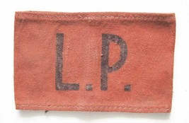 Extremely Rare German WW2 armband with LP - Lager Polizei from KL KZ, 19... - $200.00