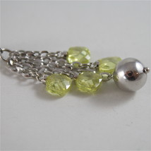 925 RODIUM SILVER NECKLACE WITH FACETED BALLS, AMETYST AND CRYSTAL MADE IN ITALY image 3