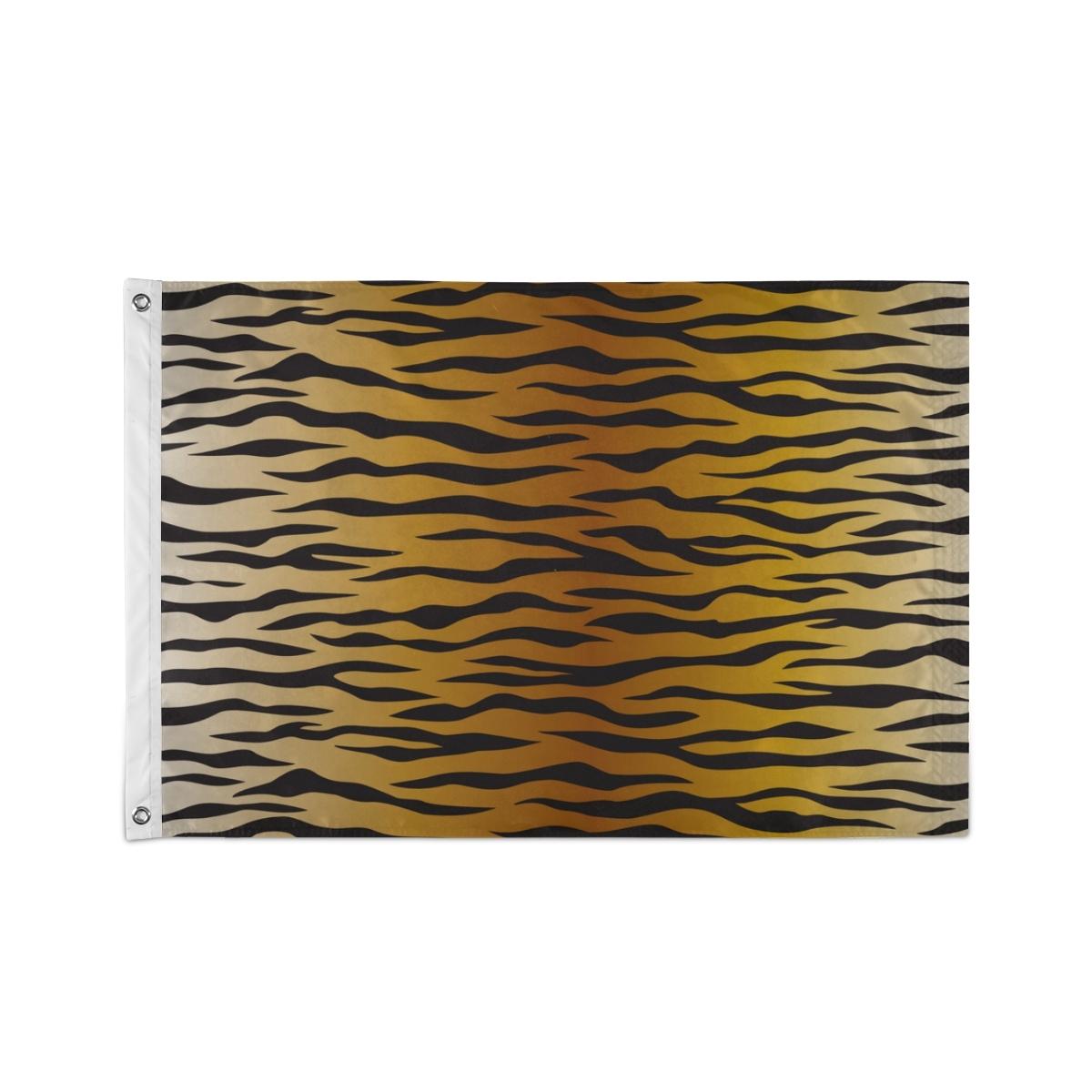 Custom Decor Flags Animal Skin Tiger Stripes Black Flags Wall Decor - $24.99