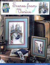 CROSS STITCH SCENES FROM VENICE CHARTS ITALY GO... - $8.98