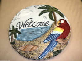 """Young's Inc Welcome Parrot Wall Plaque Size: 10"""" Round #096587100370 - $19.80"""