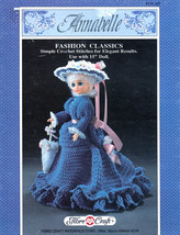 "Annabelle * Crochet 15""  Doll Clothes & Parasol 1989 Fibre Craft Patterns Oop - $8.99"
